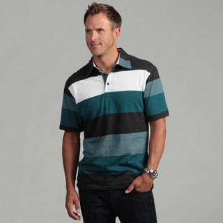 Burnside Men's Charcoal Stripe Polo Shirt
