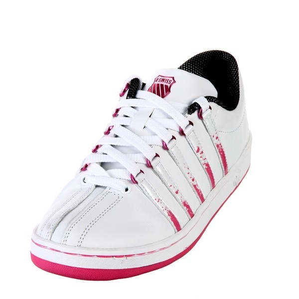 K-Swiss Women's 'The Classic' Lace-up Striped Sneakers