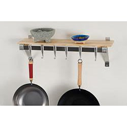 Concept Housewares Stainless Steel Natural Finish Pot Wall Rack