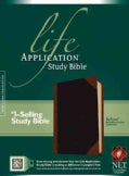 Life Application Study Bible: New Living Translation, TuTone Black / Brown Portfolio LeatherLike (Paperback)