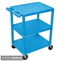 Luxor Three-shelf Heavy-duty Polyurethane Plastic Utility Cart