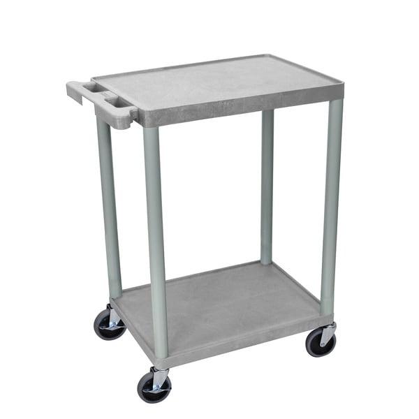 Luxor Two-shelf Heavy-Duty Plastic Utility Cart