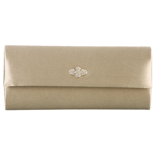 Carlo Fellini Sunset Gold Satin Clutch Handbag