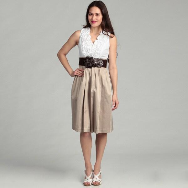 Jessica Howard Women's Ruffled Dress
