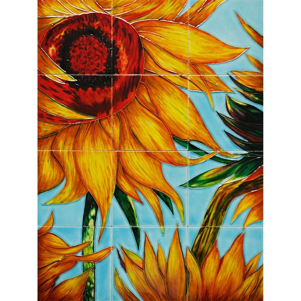 Van Gogh 'Sunflowers' Mural Wall Tiles