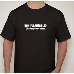Men's 'Non-flammable? Challenge Accepted' Novelty T-shirt