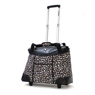 Olympia Deluxe Cheetah Women's Rolling 17-inch Laptop Tote