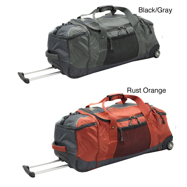 Sierra Club Half Dome 32-inch 3-Compartment Rolling Upright Duffel with Backpack Straps