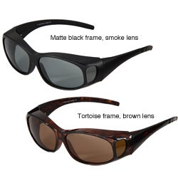 Hot Optix Men's Polarized Small Wrap-over Sunglasses