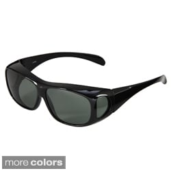 Hot Optix Men's Polarized Over-the-Glass Wrap Sunglasses