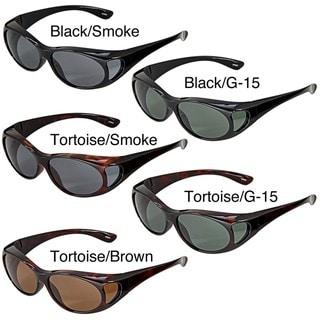 Hot Optix Women's Polarized Over-the-Glass Wrap Sunglasses