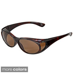 Hot Optix Women's Polarized Over-the-Glass Wrap Sunglasses