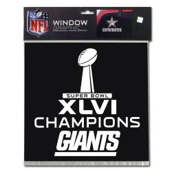 New York Giants Super Bowl XLVI Champion Window Graphic