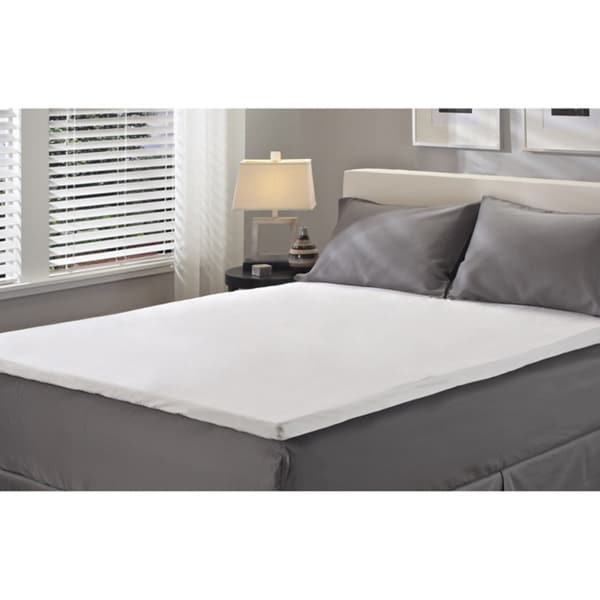 Sealy 2-inch Twin/ Full-size Latex Mattress Topper with Protective Zippered Cover Set