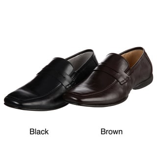 Madden Men's 'Saxton' Black Leather Penny Loafers