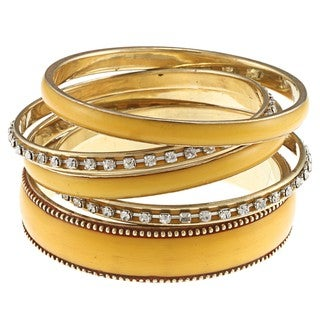 Nava Gold and Yellow Bangle Bracelet (India)