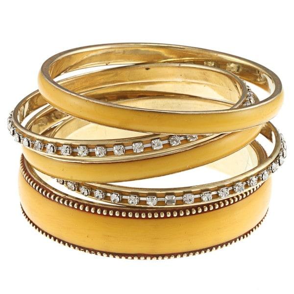 Nava Gold and Yellow Bangle Bracelet (India)