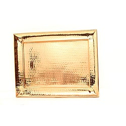 Decor Copper Hammered Tray