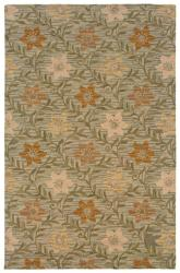 Hand-Tufted Sovereignty Green Floral Rug (5' x 8')