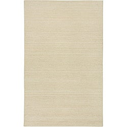 Hand-tufted Sovereignty Solid White Rug (5' x 8')