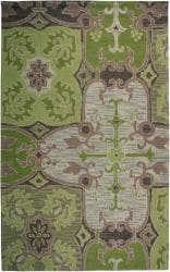 Hand-tufted Sovereignty Green Rug (8' x 8' Round)