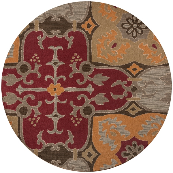 Rizzy home country collection hand tufted new zealand wool for Home accents rug collection