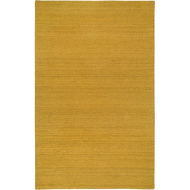 Hand-tufted Sovereignty Solid Gold Rug (8' x 10')