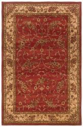 Hand-tufted Artisan Rust Rug (5' x 8')