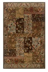 Hand-tufted Artisan Brown Rug (5' x 8')