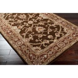 Hand-tufted Jarales Brown Wool Rug (2' x 3')