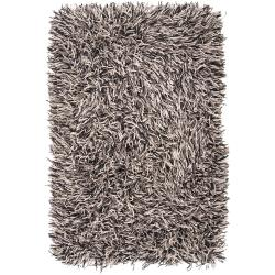 Hand-woven Cimaroon Gray New Zealand Wool Plush Shag Rug (2' x 3')