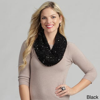 Calvin Klein Women's Sequined Cable Neck Warmer FINAL SALE