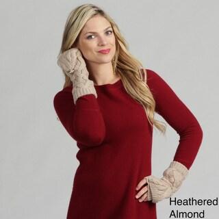 Calvin Klein Women's Cable Knit Convertible Gloves
