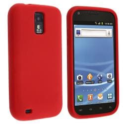 Red Silicone Skin Case for Samsung Galaxy S II T-Mobile T989