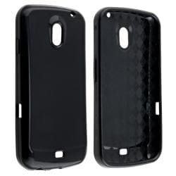 INSTEN Black TPU Rubber Skin Phone Case Cover for Samsung Galaxy Nexus i9250