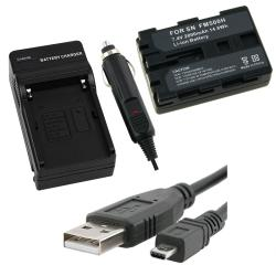 INSTEN Battery/ Charger/ USB Data Cable for Sony NP-FM500H
