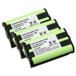 Compatible Ni-MH Battery for Panasonic HHR-P104 (Pack of 3)