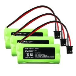 Compatible Ni-MH Battery for Uniden BT-1008 Cordless Phone (Pack of 3)