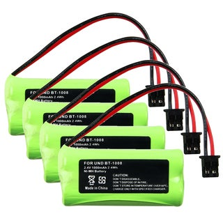 Compatible Ni-MH Battery for Uniden BT-1008 Cordless Phone (Pack of 4)