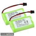 Compatible Ni-MH Battery for Uniden BT-1007 Cordless Phone (Pack of 2)