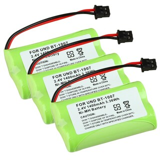 Compatible Ni-MH Battery for Uniden BT-1007 Cordless Phone (Pack of 3)