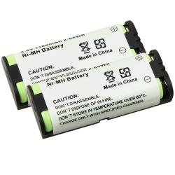 Compatible Ni-MH Battery for Panasonic HHR-P105 Phone (Pack of 2)