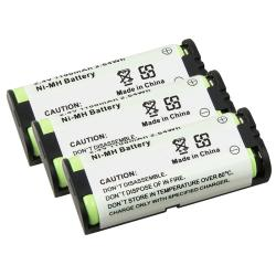 Compatible Ni-MH Battery for Panasonic HHR-P105 Phone (Pack of 3)