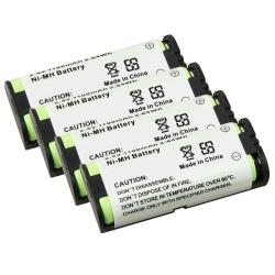 Compatible Ni-MH Battery for Panasonic HHR-P105 Phone (Pack of 4)