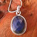 Sterling Silver 'Blue Destiny' Lapis Lazuli Necklace (India)