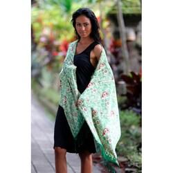 Silk 'Bogor Lady' Batik Shawl (Indonesia)