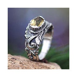 Sterling Silver 'Feminine Charm' Citrine Ring (Indonesia)