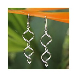 Sterling Silver 'Songkran Joy' Dangle Earrings (Thailand)