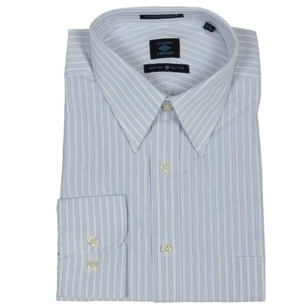 Joseph Abboud Men's Blue Striped Dress Shirt