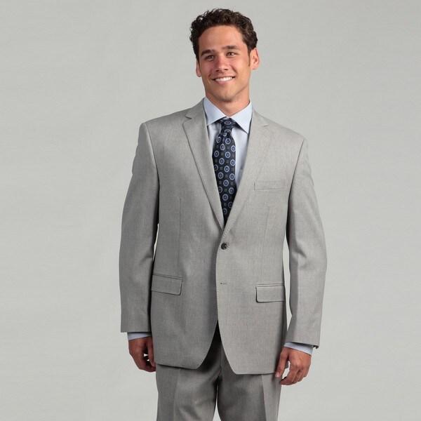 Calvin Klein Men's Light Grey Wool Suit